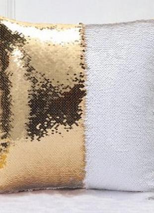 """Декоративная наволочка с пайетками """"перевертышами"""".размер 40*40"""