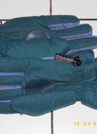 Лыжные перчатки - thinsulate tm - thermal insulation - 7 раз.