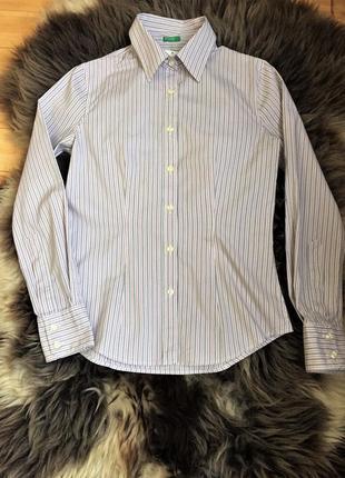 Облегающая рубашка в полоску