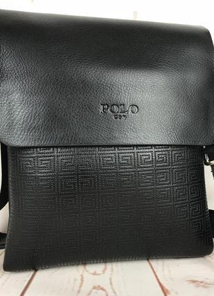 Небольшая мужская сумка - планшет с ручкой.мужская барсетка. размер 23*18 см кс64