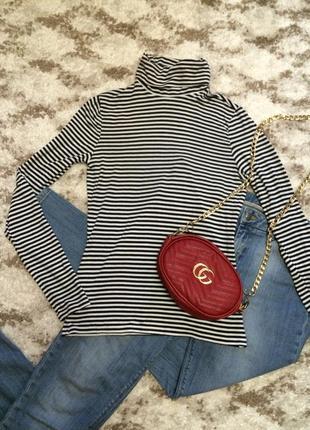 Фирменный яркий гольф h&m,кофточка в морском стиле,свитер,свитерок в полоску+подарок