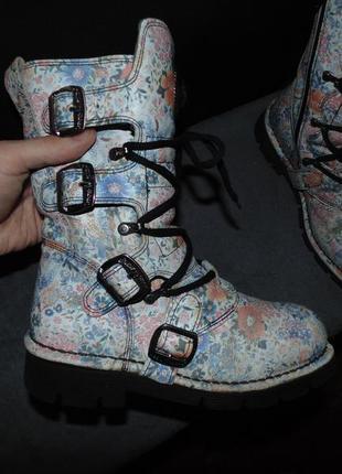 Ботинки сапоги new rock оригинал кожа