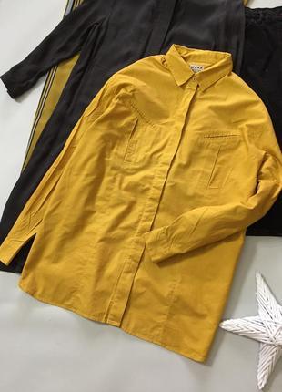 Оригинальная горчичная рубашка