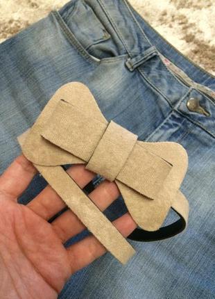 Фирменный бежевый ремень-бабочка accessorize,ремешок,пояс,поясок в подарок