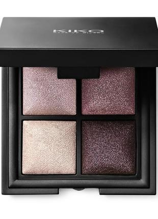 Kiko milano палітра тінів color fever eyeshadow palette 100 палитра с 4 запеченными тенями