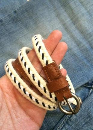 Яркий тонкий ремень accessorize,текстильный ремешок,пояс,поясок+подарок