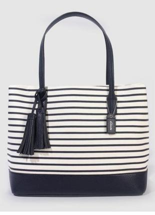 Легкая тканьевая сумка в полоску clarks