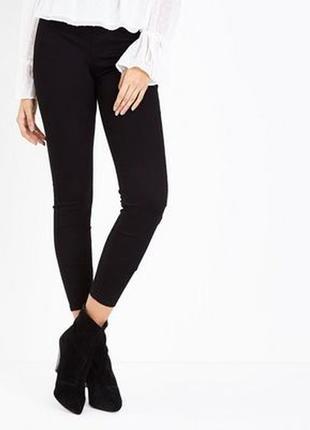 Джинсовые леггинсы, джинсы скинни на резинке без застежек высокая посадка