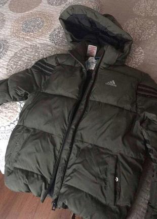 Куртка для мальчика детская adidas оригинал хаки
