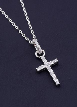 Подвеска серебро(925) фианит 40 см. 0716340