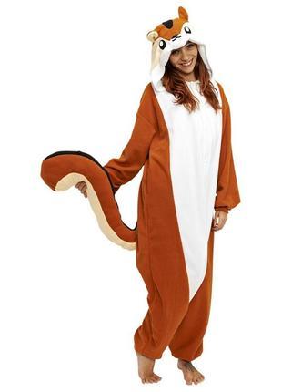 Кигуруми бурундук пижама комбинезон пати анимация флешмоб рост до 175 см