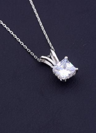 Подвеска серебро(925) фианит 40 см. 0716450