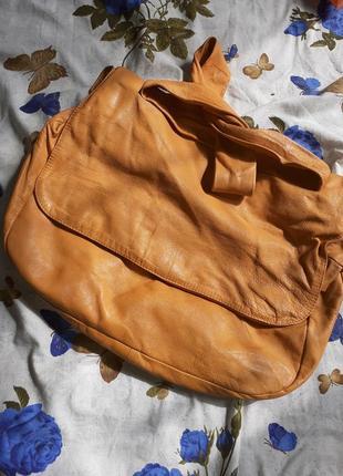 By mario soppelsa шкіряна сумка,   кожаная сумка,  на плече, дуже м'яка