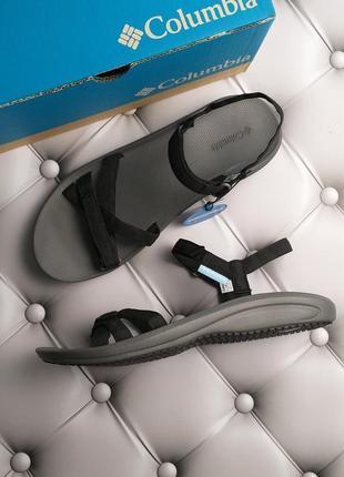 Columbia оригинал черные спортивные сандалии на липучках