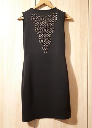 Черное мини-платье gufo