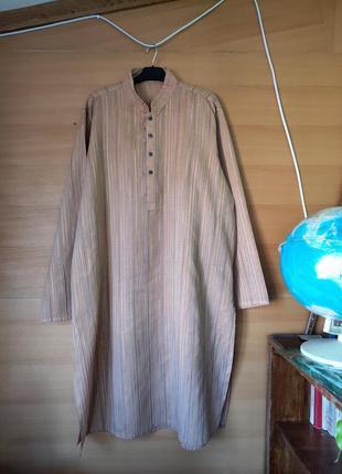 Длинная рубашка в полоску/ дишдаш / джабадор