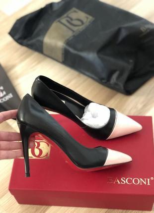 Новые кожаные туфли basconi 37 размер