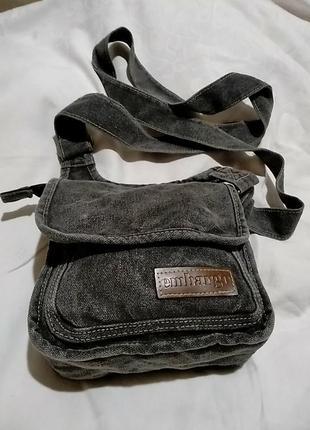 Серая джинсовая  мужская сумка embargo