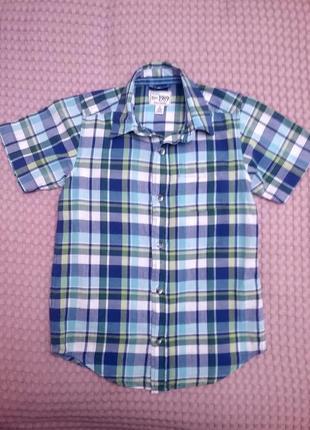 Красивая рубашка в клетку на 5-6 лет, place
