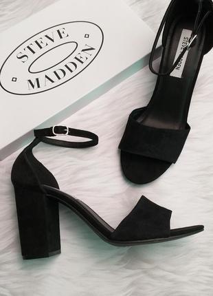 Steve madden оригинал замшевые босоножки на широком каблуке бренд из сша3 фото