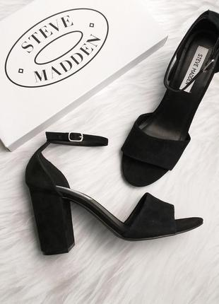 Steve madden оригинал замшевые босоножки на широком каблуке бренд из сша5 фото