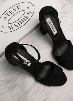 Steve madden оригинал замшевые босоножки на широком каблуке бренд из сша2 фото