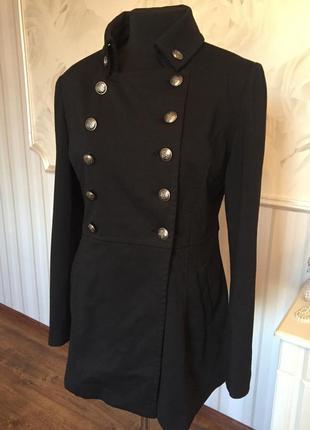 Трикотажное пальто-кардиган на подкладке, размер l, наш 48-50.