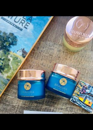 Увлажняющий крем с азуленом azulene moisturizer от bravura london для любого типа кожи