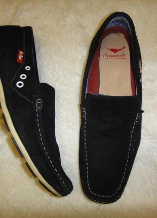 Замшевые мокасины туфли lee cooper р. 43 (28,5см)