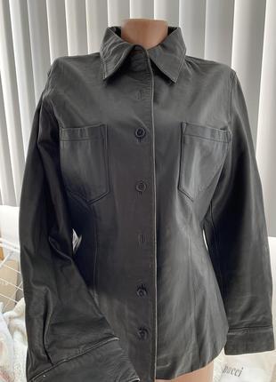 Gap кожаная куртка пиджак оригинал на пуговицах