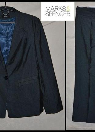 Брендовий костюм жіночий marks & spencer l [великобританія] (пиджак и брюки женские)