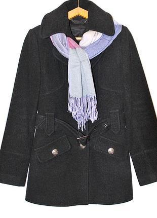 Элегантное кашемировое полупальто oodji размер s-m + подарок шарф