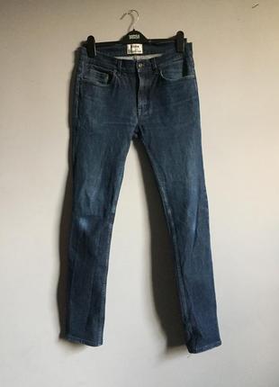 Acne studio темно синие , узкие джинсы