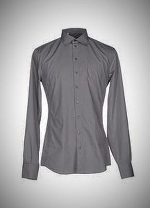 Оригинал! рубашка мужская подростковая серая приталенная. италия!