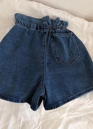 Джинсовые шорты с пояском2 фото