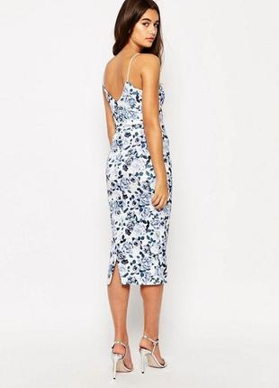 Новое миди платье футляр в цветочный принт для беременных asos.
