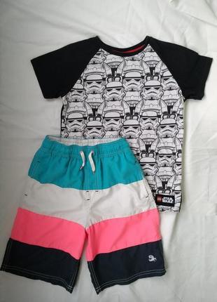 Комплект летний футболка и шорты р.140 мальчику 9-10лет