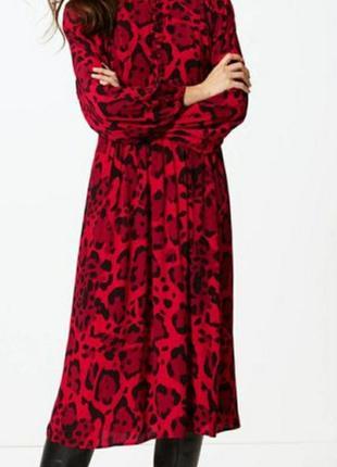 Бесподобное вискозное платье миди в бохо стиле