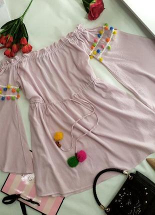 Платье свободного кроя xl нежно розовое pretty little thing3 фото