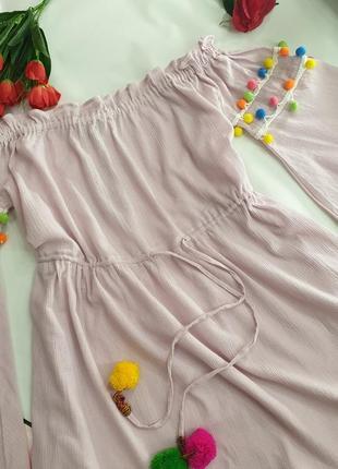 Платье свободного кроя xl нежно розовое pretty little thing5 фото