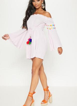 Платье свободного кроя xl нежно розовое pretty little thing2 фото