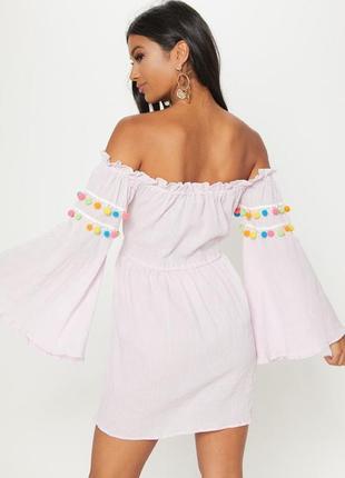 Платье свободного кроя xl нежно розовое pretty little thing10 фото