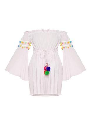 Платье свободного кроя xl нежно розовое pretty little thing9 фото
