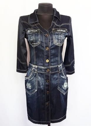 Суперцена. стильное платье под джинс. новое, р. 42-46