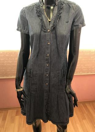Платье джинсовое, коттон, бренда esprit, размер м