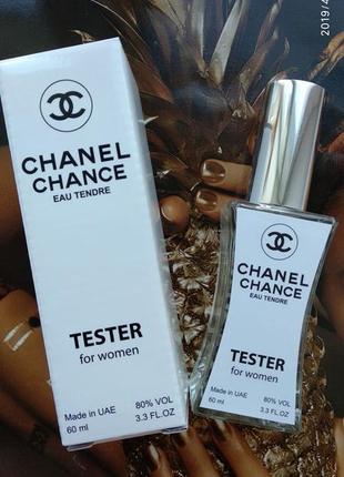 Женская туалетная вода chanel chance eau tendre тестер 60 мл