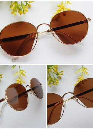 Распродажа! солнцезащитные очки - оригинальная модель в коричневом цвете + фото на лице