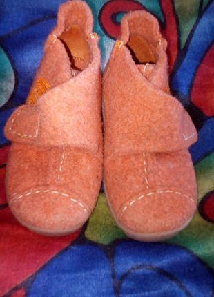 Тапочки мокасины ботиночки теплые войлочные тапочки