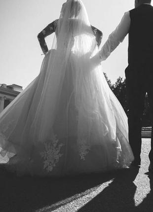 Свадебное платье. ультра модное.3 фото