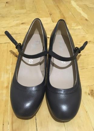Черные кожаные туфли marks and spencer, 37размер